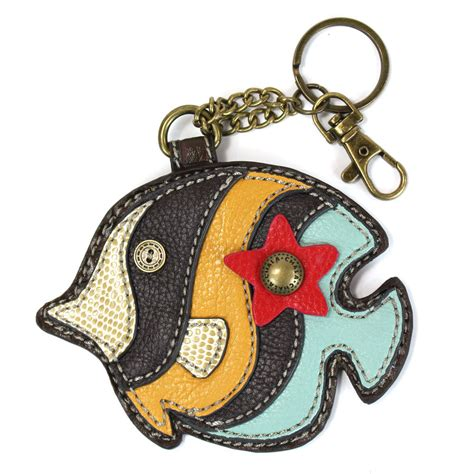 Chala Coin Purse Key Fob chala tropical fish whimsical inspired key chain coin