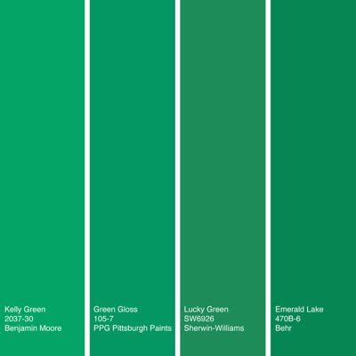 Colour Match Paint by Color Of The Week Kelly Green