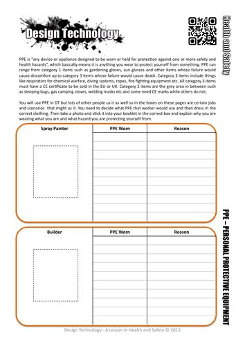 Health And Safety Worksheets For Students by Rm Tools Equipment Health Safety Revision By Doodle