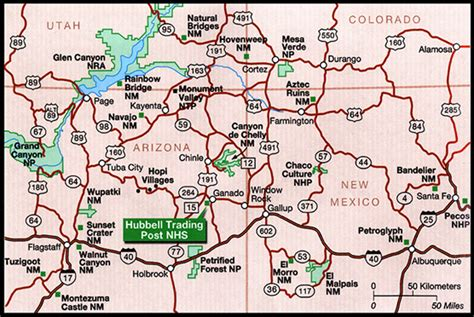 arizona highway conditions map maps hubbell trading post national historic site u s