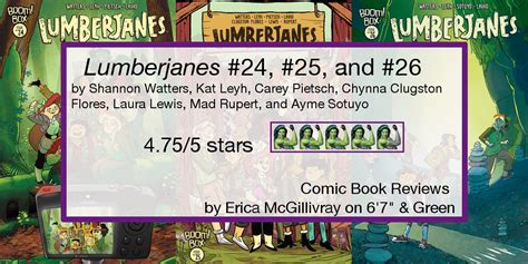 lumberjanes vol 6 sink or swim lumberjanes 24 26 comic reviews 6 7 quot and green