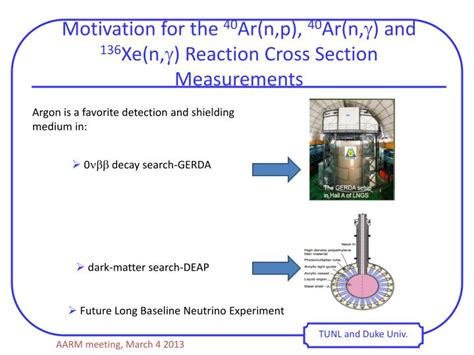 reaction cross section ppt measurement of 40 ar n p reaction and neutron