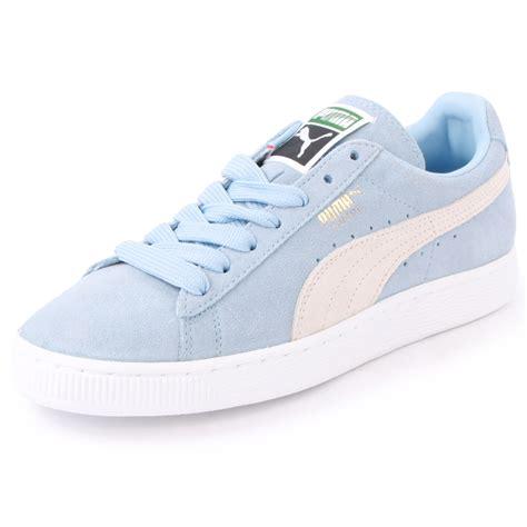 Light Blue Pumas Puma Suede Classic 355686 02 Womens Size 3 4 5 6 7 8
