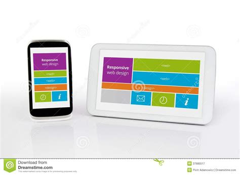 html design mobile devices responsive web design on mobile devices royalty free stock