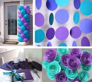 Ideas of purple and teal wedding party happyinvitation com