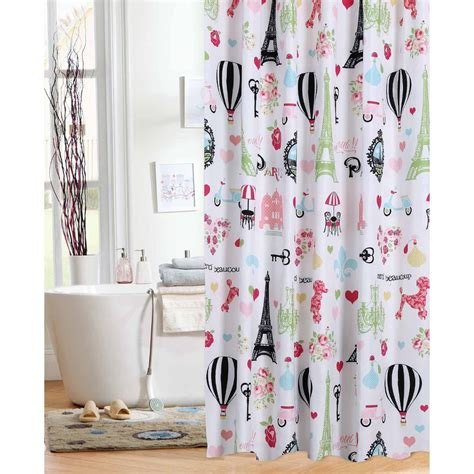 curtains paris theme mainstays kids i love paris shower curtain jet com