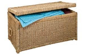 Seagrass Storage Ottoman Large Woven Seagrass Storage Ottoman Chest Blanket Box Ebay