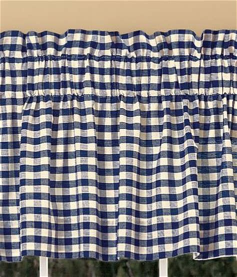 cabin check curtains cabin check lined insert valance from country curtains
