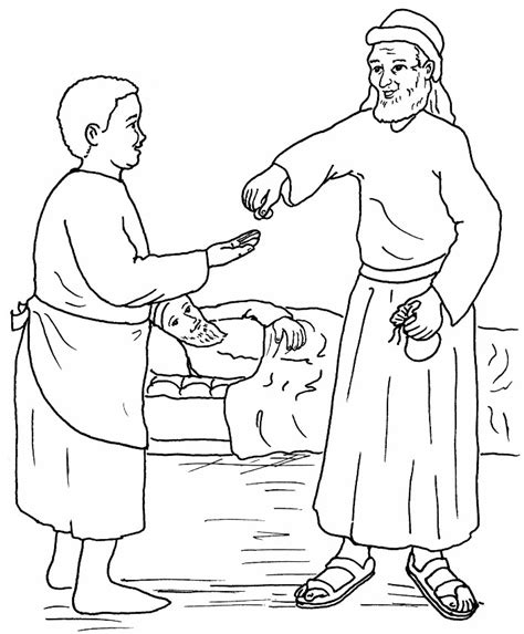 good samaritan coloring page for preschoolers parable of the good samaritan the good samaritan