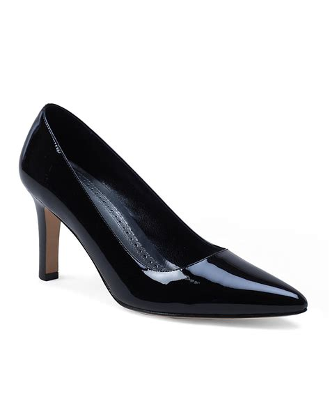 black patent leather pumps brooks brothers patent leather classic pumps in black lyst