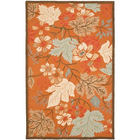 Safavieh Blossom Rug Safavieh Blossom Rust Multi 8 Ft X 10 Ft Area Rug Blm917a 8 The Home Depot