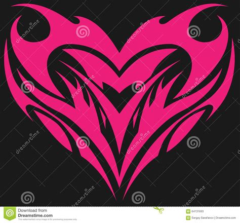 love tattoo vector love and heart stock vector image 64131693