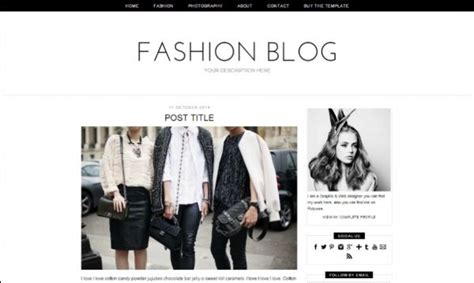 stylish templates for blogger fashion blog blogger template mobile responsive minimal