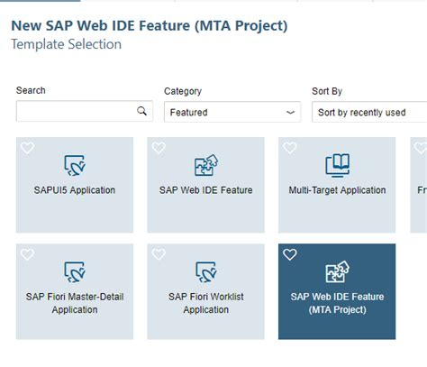 create your own sap web ide template getting started