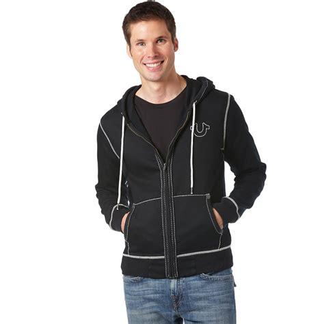 Stitching Hoodie true religion contrast stitching big t hoodie