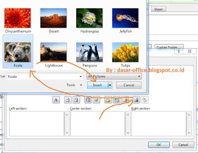 membuat watermark di excel cara membuat gambar transparan watermark di excel