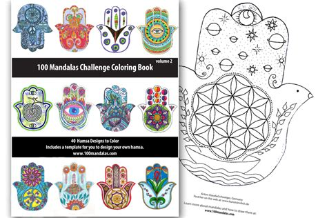 mandala coloring book 100 mandalas custom designs 100 mandalas coloring book volume 2 books hamsa coloring book how to draw mandalas and the 100