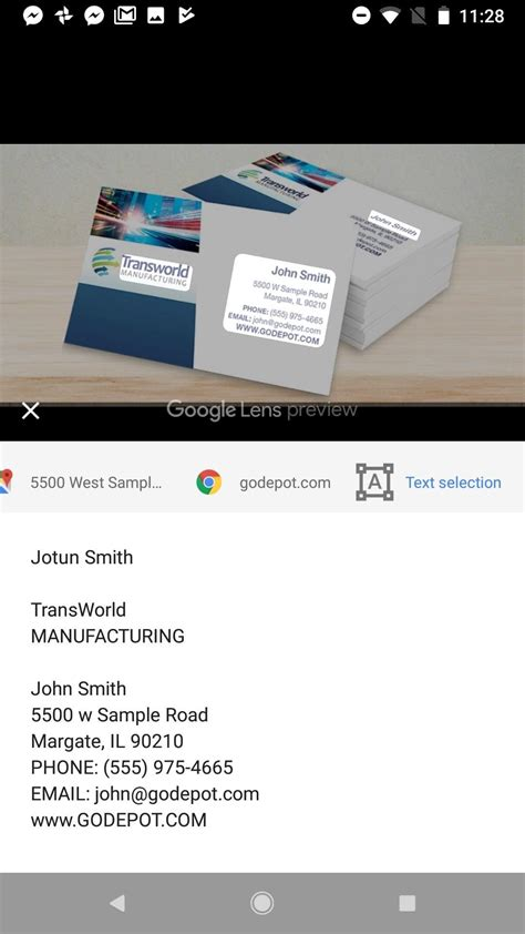 business card templates for android business card android sle choice image card design