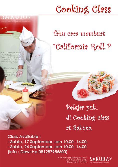 belajar membuat flyer sakura japanese restaurant belajar membuat sushi