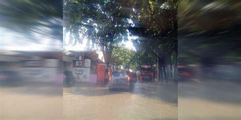 banjir jalan pejaten raya pasar minggu macet parah