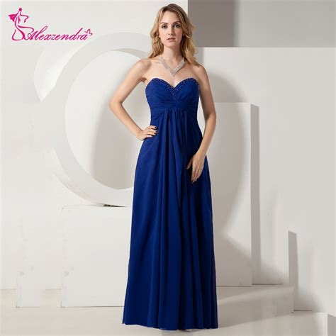 alexzendra royal blue chiffon prom dresses simple long
