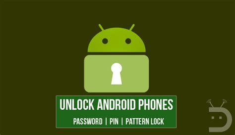 unlock pattern locked android unlock android phones if you forgot pin or pattern lock
