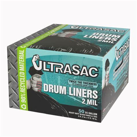 Home Depot Kitchen Garbage Bags Ultrasac 55 Gal Drum Liner Trash Bags 50 Count Hmd