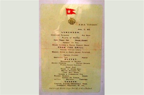 titanic first class menu titanic first class menu recreated in belfast