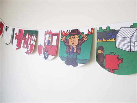 mr men bedroom mr men mr strong bunting perfect for decorations
