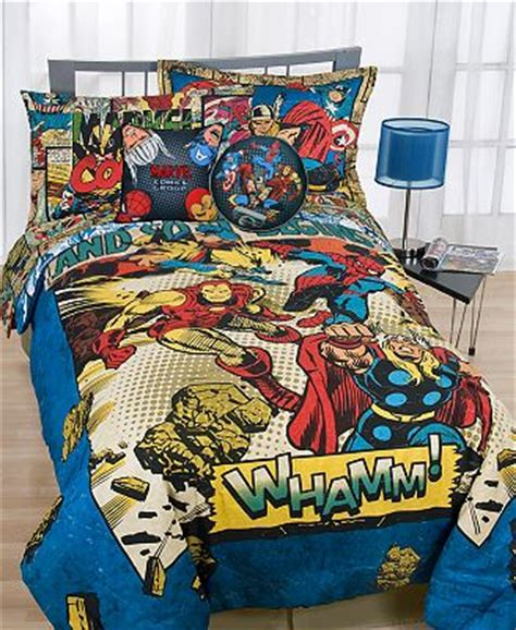 Marvel Bed Set by Marvel Whamm Comforter Sets Bedding Bed Bath Macy S