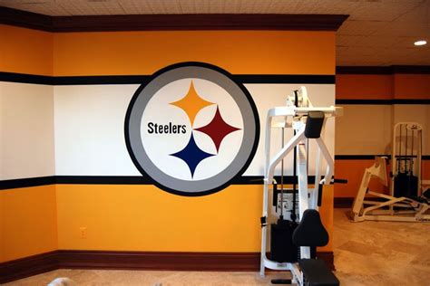steelers bedroom pittsburgh steelers 1970 s locker room mural by tom taylor