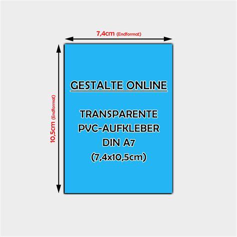 Transparente Aufkleber Erstellen by Transparente Pvc Aufkleber Gestalten Din A7 7 4 X