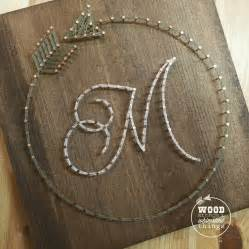 How To Make String On Wood - circle arrow initial string string initials and