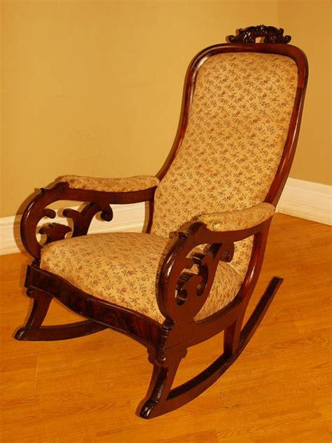 antique empire mahogany rocking chair rocker