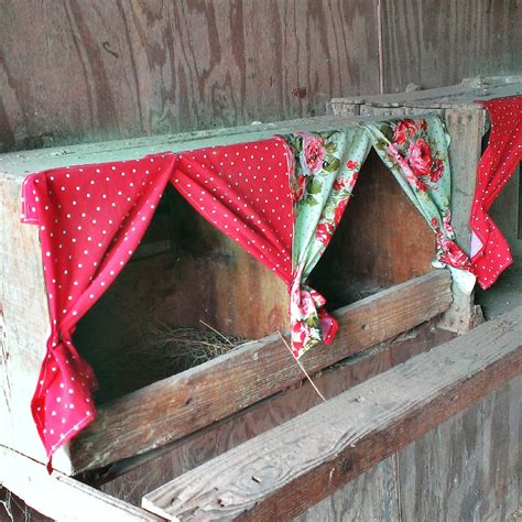 chicken house curtains cluck wild homestead nesting box curtains
