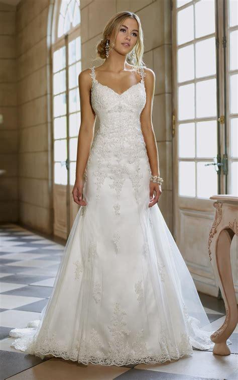 a line wedding dress with straps naf dresses