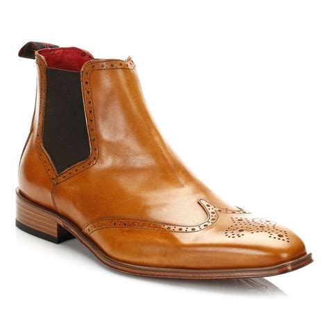 Brogue Chelsea Boots jeffery west mens chelsea boots leather suede pull on
