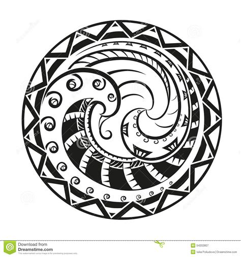 circular composition of the ornaments in the style of the