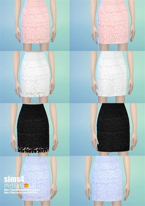 Lace H Line Skirt h line lace skirt at marigold 187 sims 4 updates