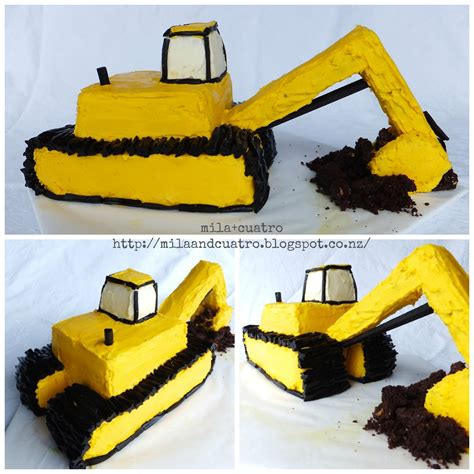 Digger Cake Template by Mila Cuatro How To Make A 3d Digger Cake Excavator Cake
