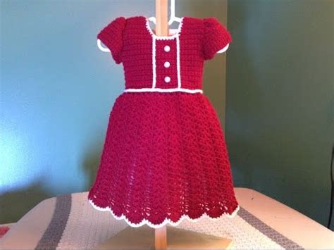 dress pattern youtube how to crochet a baby dress christmas holiday shell