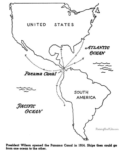 Panama Coloring Pages Panama Canal Opened American History For Kid 085 by Panama Coloring Pages