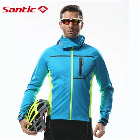 hooded cycling santic thermal hooded cycling jacket composite carbon