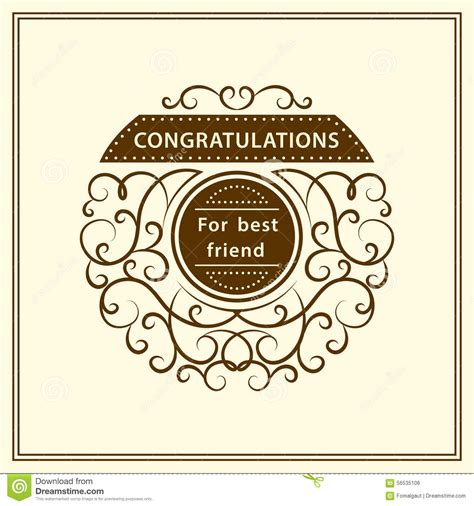 congratulation for best friend stylish typographic poster