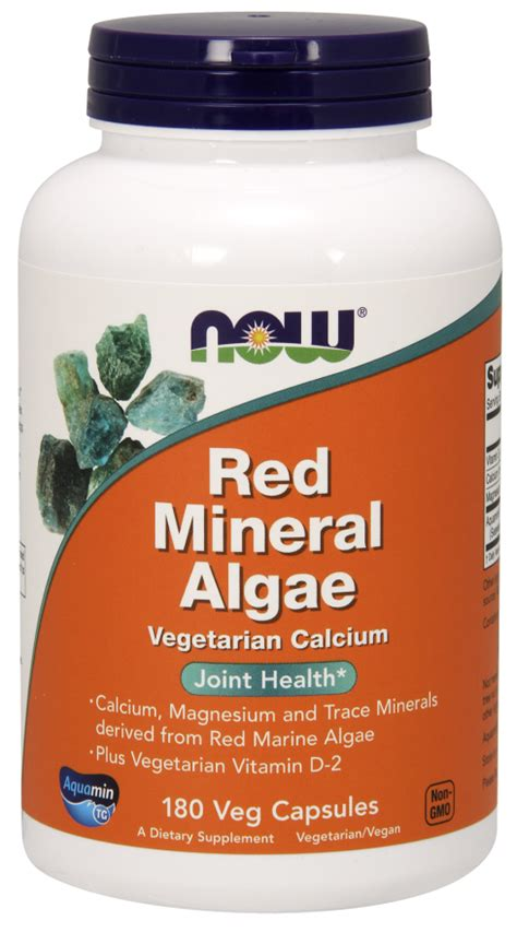 Algae Pills To Detox by Mineral Algae Veg Capsules Now Foods