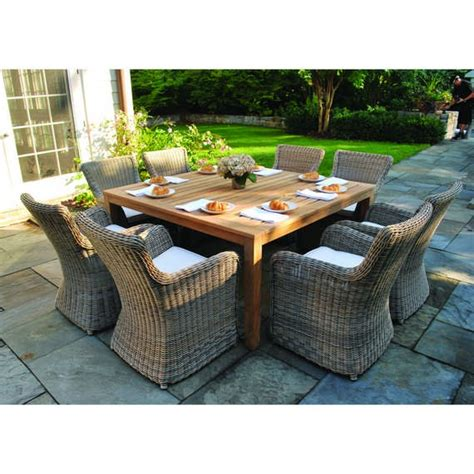 Wainscott Square Outdoor Dining Teak Table Outdoor Square Dining Table