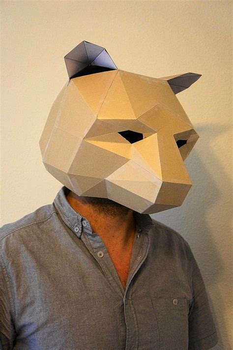 How To Make A 3d Paper Mask - 25 best ideas about mask on crafts