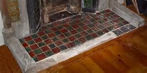 fireplace hearths in square plain glazed tiles fireplace