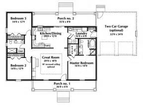One Story Ranch Style House Plans by Malaga Single Story Home Plan 028d 0075 House Plans And More
