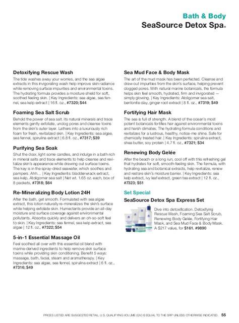 Arbonne Seasource Detox Spa Rescue Wash by Arbonne Catalogue
